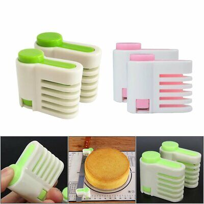 £4.19 • Buy 2Pcs Even Cake Slicing Leveler Bread Cutter Baking Tools Easy To Carry NEW VC