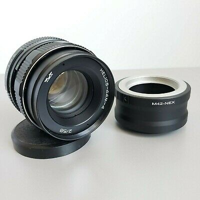 $ CDN96.04 • Buy Lens Helios 44-4  Soviet USSR 2/58 Mm M42 + Adapter SONY NEX