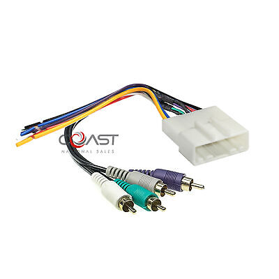 $8.95 • Buy Amplifier Bose Intergration Harness With RCAs Plugs Into Car Harness For Nissan