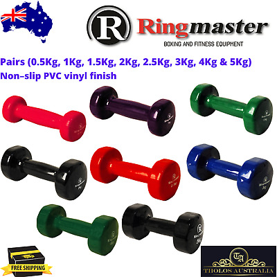 AU33.50 • Buy Dumbbell Weights Set Non Slip PVC Fitness Home Gym Crossfit Exercise Dumbells