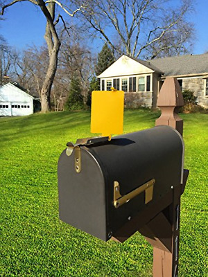 $23.68 • Buy Mail Time! ?? Yellow Mailbox Alert Signal Flag For Long Rural Driveways