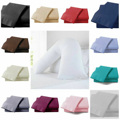 V Shaped Pillow Case Cover - Nursing Pregnancy Maternity Orthopaedic Support • 2.96£