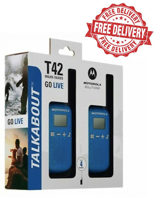 Motorola Talkabout T42 Twin Pack Of Two-way Radios In Blue | Free Delivery • 24.95£