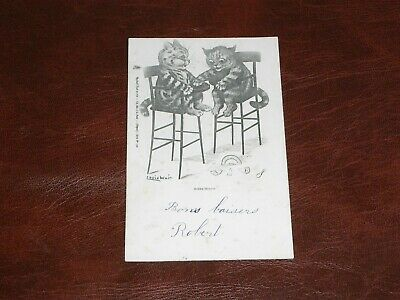 £28.50 • Buy Original Louis Wain Signed Tuck Anthropomorphic Postcard - Cats In High Chairs.