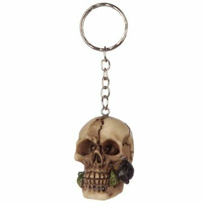 Skulls & Roses Skull Keyring Goth Emo Witch Witchcraft Magic Key Accessories • 4.49£