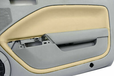 $31.99 • Buy Leather Synthetic Door Panel Insert Cards  Cover Fits Ford Mustang 05-09 Beige
