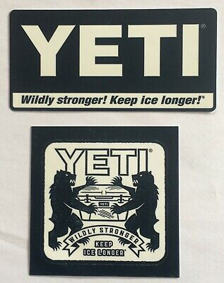 Yeti / Yeti Coolers / Wildly Stronger ...Keep Ice Longer / 2 Sticker Pack / New  • 5.23£