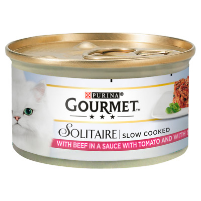 Gourmet Solitaire Beef & Tomato 12Pack Cat Food - 85G • 10.24£