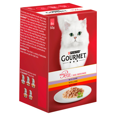 Gourmet Mon Petit Game, Liver And Beef Cat Food - 6 X 50g • 2.27£