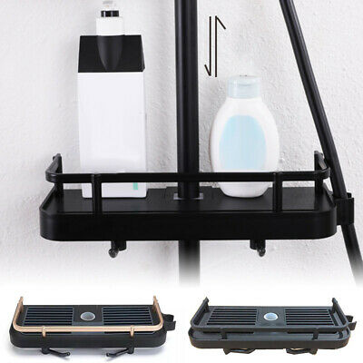 AU29.49 • Buy No Drills Bathroom Shelf Shower Pole Storage Caddy Rack Organiser Tray Holder