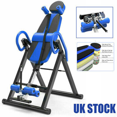 £124.11 • Buy Heavy Duty Folding Inversion Table Bench Fitness Gym Home Back Inversion Machine