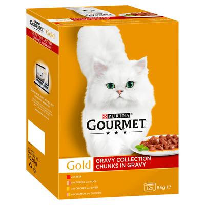 Gourmet Gold Chunks In Gravy Collection Cat Food- 12 X 85g • 7.03£