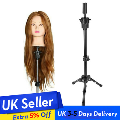 £6.98 • Buy Wig Head Stand Mannequin Tripod Hairdressing Training Holder For Hair-styling