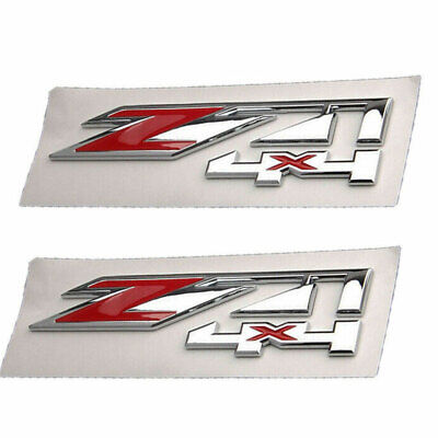 $21.29 • Buy 2x Z71 4x4 Emblem For GMC Chevy Silverado Sierra Tahoe Suburban Decal Chrome Red