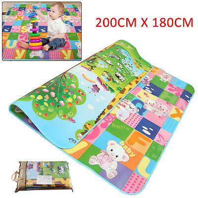 £10.99 • Buy 2 Side Baby Play Mat Kids Crawling Educational Soft Foam Baby Carpet 200x180cm A