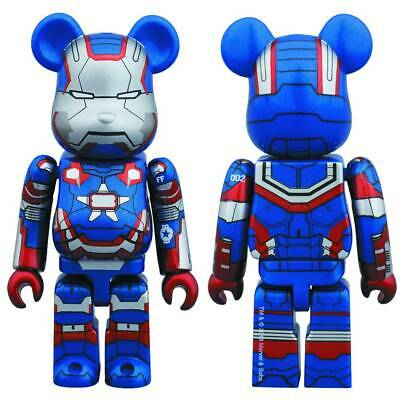 $59.98 • Buy Iron Man 3 Iron Patriot 100% Bearbrick Figure Medicom New Sealed