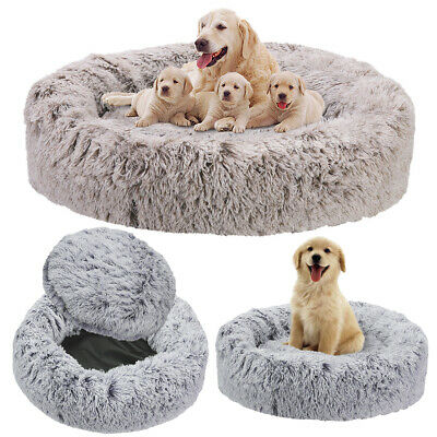 Plush Anti-anxiety Dog Cat Vegan Donut Pet Bed Bottom Waterproof Up To XXL 118cm • 59.99£