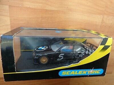 HORNBY SCALEXTRIC BMW 320i INDEX BLACK #5 SLOT CAR C2267 BOXED • 37.99£