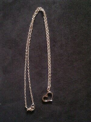 Pale Rose Gold Plated 18  Chain Necklace With Heart Pendant • 2.70£