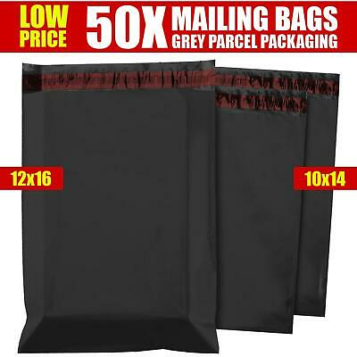 £4.29 • Buy 50 MIXED MAILING BAGS GREY PARCEL PACKAGING 10 X 14 And 12 X 16 POSTAGE BAGS