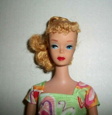 $ CDN293.91 • Buy Vintage Early 1960s Blonde Poodle Bangs Ponytail Barbie Only Body Doll Dressed