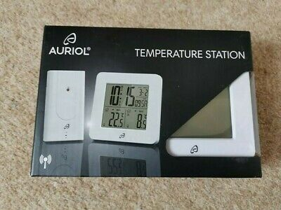 Auriol Radio-Controlled Temperature Station White Weather  New Other • 17.99£