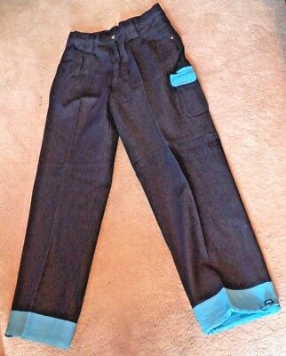 £14.16 • Buy New Pair Of Men's Size 32 Bare Fox Platinum Jeans W Blue Rubber Cuffs & Pockets