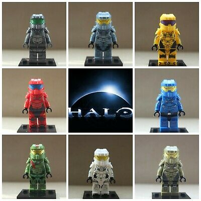 Halo Space Marines Soldiers Xbox One Game 8 Mini Figures Use With Lego Die Cast • 11.99£