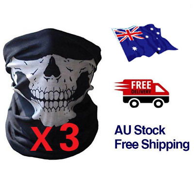 AU9.99 • Buy  BANDANNA Fishing Face Mask Headwear Neck Head Skeleton Australia Plain Black