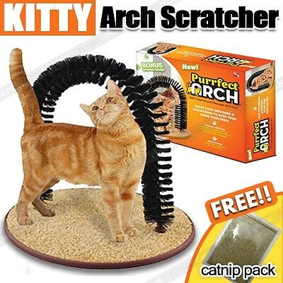 AU14.99 • Buy Purrfect Cat Kitten Kitty Arch Cat Groomer Scratcher Bonus Catnip Included