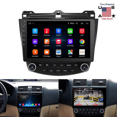 $198 • Buy For Honda Accord 03-07 10.1inch Android9.1 Quad-Core Car Stereo Radio GPS Player