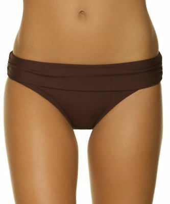 High Waisted Brief Saress Brown Size L 14 Fold Top Swimwear Bikini Bottom New • 5.89£