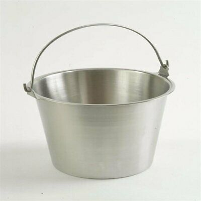 $42.99 • Buy Admiral Craft Pure Stainless Steel Milk Pail Seamless Brushed Finish 2 Quart