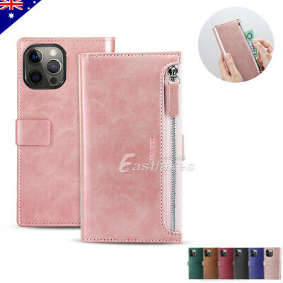 AU9.97 • Buy Zipper Leather Wallet Case Magnetic Flip Cards Cover For IPhone XS MAX XR X