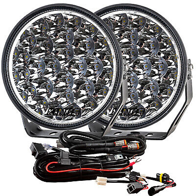 AU169 • Buy Kings Osram Xtreme 9  LED Driving Lights 1Lux @ 1,384m + Smart Wiring Harness