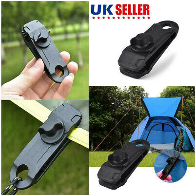 Reusable 10Pcs Windproof Clip Awning Clamp Tarp Clips Snap Hanger Tent Camping • 8.69£