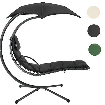 Swing Chair Hanging Lounger With Stand Hanging Lounge Chair + 5 Cm Thick Cushion • 169.99£