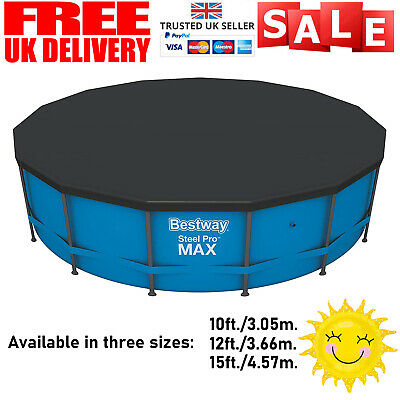 £27.99 • Buy Bestway Flowclear Swimming Pool Cover For Steel Pro Max Round Pools 10/12/15 Ft