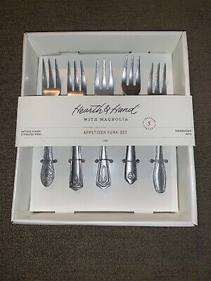 $8.99 • Buy HEARTH & HAND With MAGNOLIA 5 Piece Appetizer Fork Set By Chip And Joanna Gaines