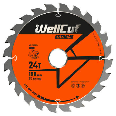 £9.99 • Buy Circular Saw Blade 190mm X 24T X 30mm Bore Suitable For HS7601J, 5704R, GKS65