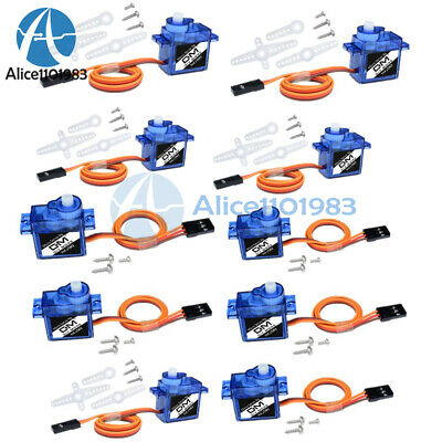 AU14.12 • Buy 10PCS Mini Micro Servo 9G SG90 For RC Robot Helicopter Airplane Car Boat Toys