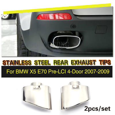 $ CDN105.47 • Buy Stainless Steel Chrome Exhaust Tip Muffler Ends Fit For BMW X5 E70 07-09