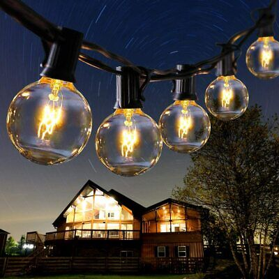 25Ft Outdoor Globe Festoon Fairy String Lights G40 Bulbs For Garden Wedding Home • 14.89£