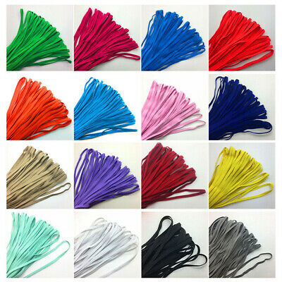 $ CDN4.81 • Buy 10yds 1/4  6mm Thickening Satin Elastic Band Trim Sewing Spandex Lace 1Roll