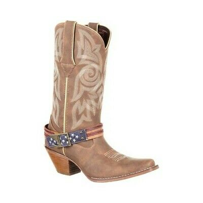 $95.95 • Buy Durango Boot Women's   DRD0208 Crush Flag Accessory Western Cowgirl Boot Brown