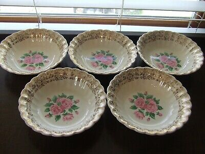 $30 • Buy 5 Vintage Sebring China Bouquet Coupe Cereal Bowls NO CRAZING!