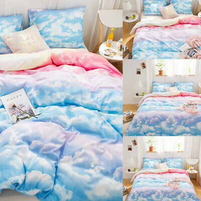 £48.02 • Buy Colorfull Cloud Printed Duvet Cover Pillowcase Bedding Set Twin Queen King Size