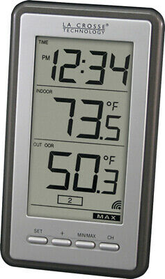 $16.99 • Buy La Crosse 308-1415BW Black & White Wireless Thermometer Indoor/Outdoor 9669797