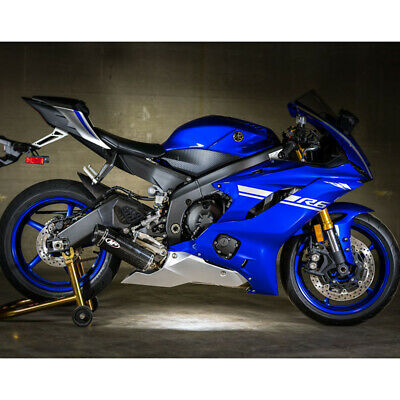 $872 • Buy M4 Yamaha R6 2006-2018 Stainless Full Exhaust X96 Carbon Canister