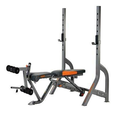 York Olympic Barbell Bench Diamond Adjustable Folding FID Dumbbell Weight Bench • 499£
